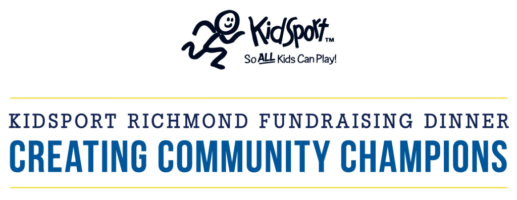 charity logo design kidsport richmond