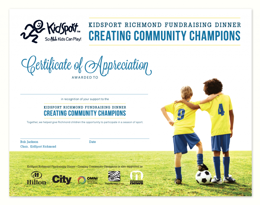kidsport-richmond-fundraising-dinner-certificate-appreciation